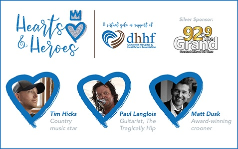 Dunnville Hospital & Healthcare Foundation's Hearts and Heroes Virtual Gala